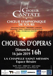 CONCERT Chœur CANTATE et Chœur du Conservatoire de Tours